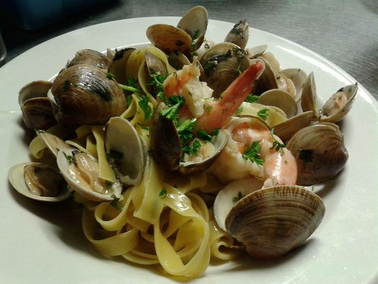 Pappardelle Shrimp Clams Fort Lauderdale