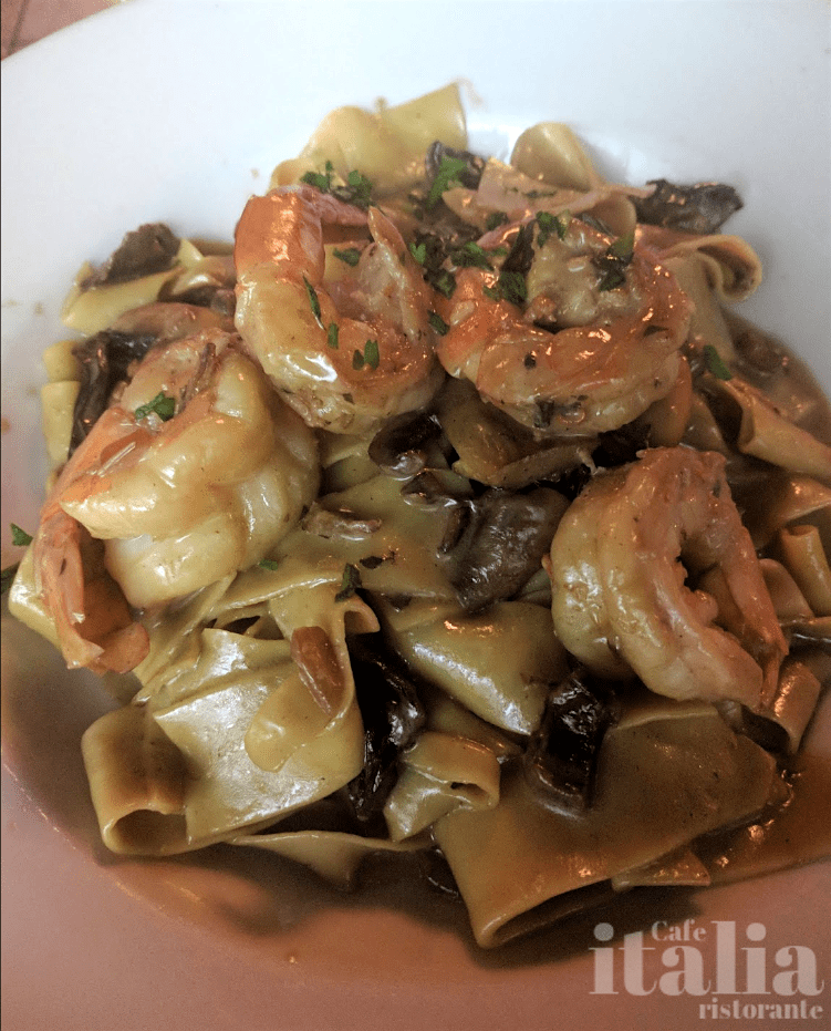 Papparelle Pasta Porcini Mushrooms Shrimp Fort Lauderdale