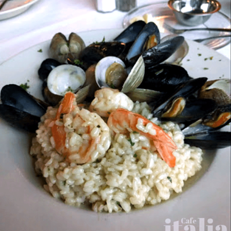 Risotto Scoglio Fort Lauderdale Mussels Shrimp Clams